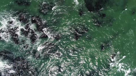 Sea wave seen in bird's-eye view ビデオ