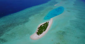 v04622 Aerial flying drone view of Maldives white sandy beach on sunny tropical Live Action