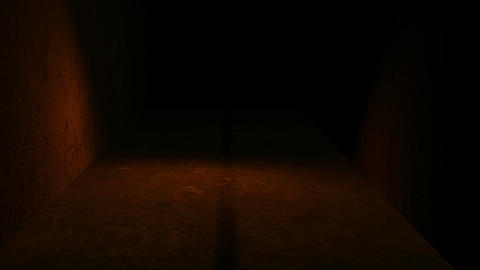 walking in spooky space with low light - Horror scene…, Stock Animation