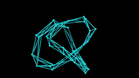 wire frame model of torus knot - 3D Rendering Animation