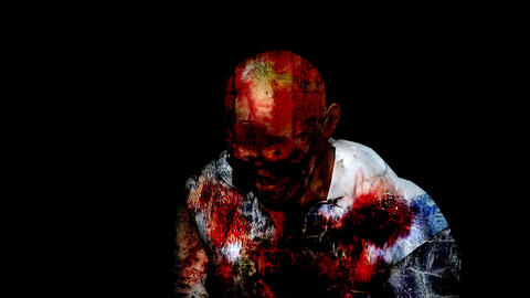 Horror Zombie with Effects, mixed media of two CG animation Animation