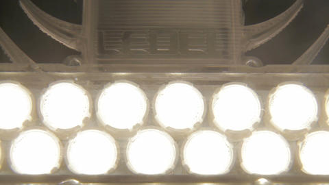 Closeup LED Lamp with White Light Diode Triangle in Black Case Footage