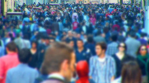 Istanbul crowd Stock Video Footage