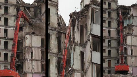 demolition machine Stock Video Footage