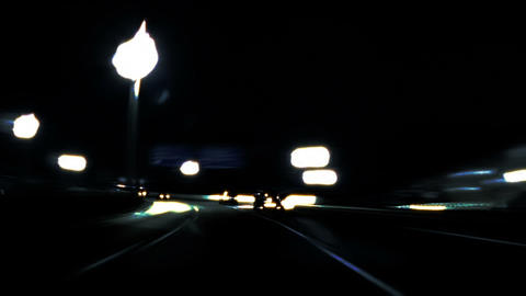 Night car trip 05 Stock Video Footage