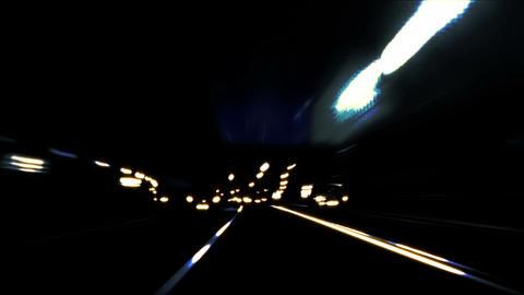 Night car trip 05 Stock Video Footage