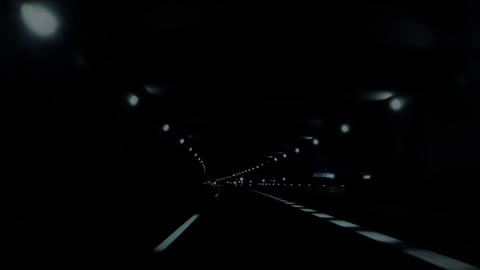 Night car trip 03 Stock Video Footage