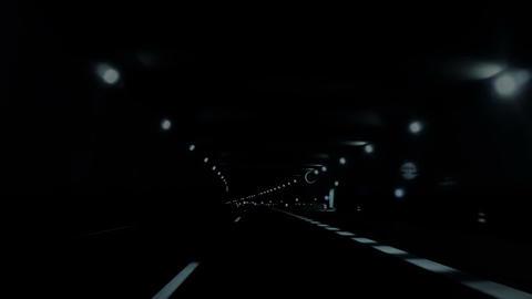 Night car trip 03 Stock Video Footage