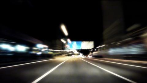 Night car trip 01 Stock Video Footage