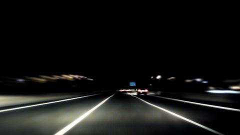 Night car trip 01 Stock Video Footage