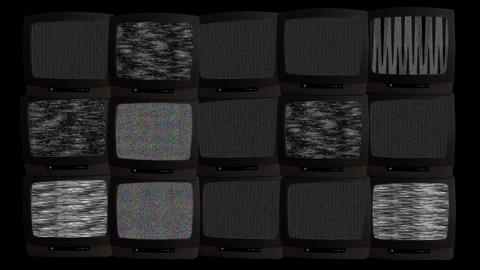 TV wall 02 A Stock Video Footage