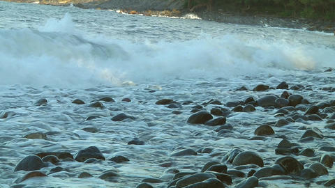 Rock beach Stock Video Footage