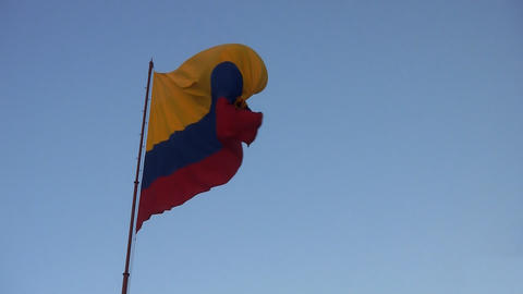 colombian flag 01 Stock Video Footage