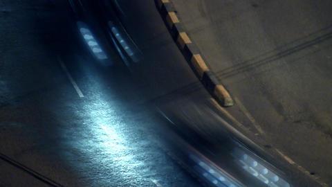 Night City Traffic 05 zoom Stock Video Footage