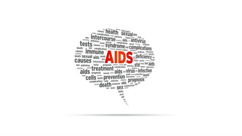 Aids Speech Bubble Stock Video Footage