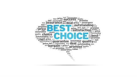 Best Choice Speech Bubble Stock Video Footage