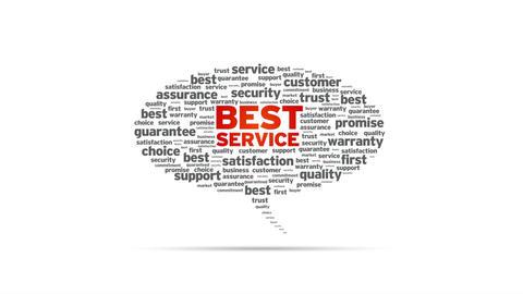 Best Service Speech Bubble Stock Video Footage