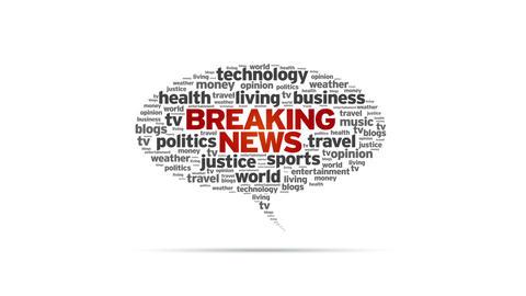 Breaking News Speech Bubble Stock Video Footage
