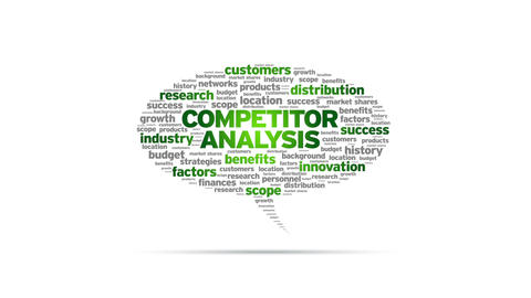 Competitor Analysis Speech Bubble Stock Video Footage