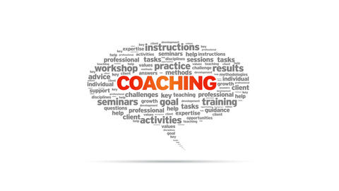 Coaching Speech Bubble Stock Video Footage