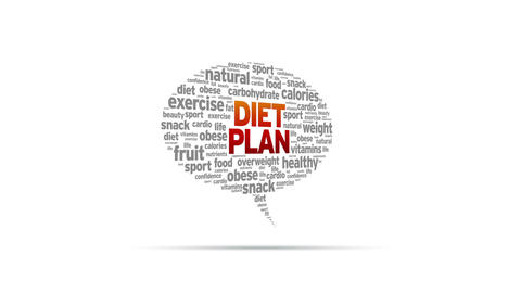 Diet Plan Speech Bubble Stock Video Footage