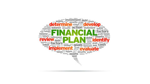 Financial Plan Speech Bubble Animation