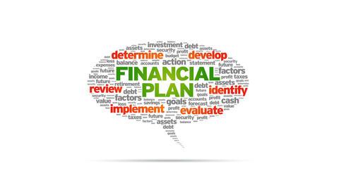 Financial Plan Speech Bubble Stock Video Footage