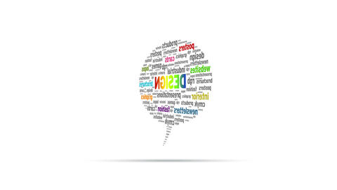 Design Speech Bubble Stock Video Footage