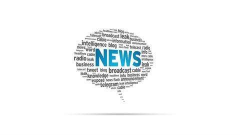 News Speech Bubble Stock Video Footage