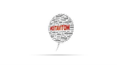 Motivation Speech Bubble Stock Video Footage