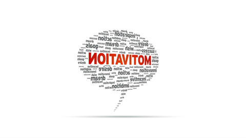 Motivation Speech Bubble Stock Video Footage