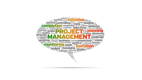 Project Management Speech Bubble Stock Video Footage