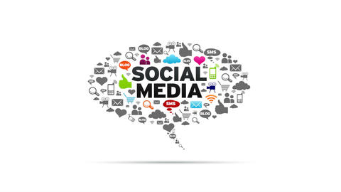 Social Media Speech Bubble Stock Video Footage