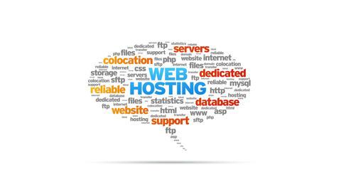 Website Hosting Speech Bubble Stock Video Footage