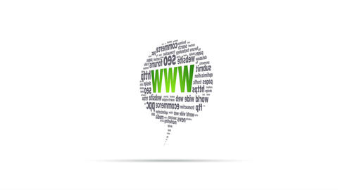 World Wide Web Speech Bubble Stock Video Footage