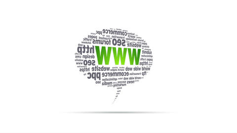 World Wide Web Speech Bubble Stock Video Footage