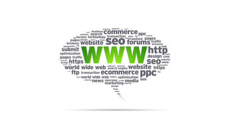 World Wide Web Speech Bubble Animation