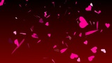HD Looping Falling Hearts Animation for your Wedding Video Animation