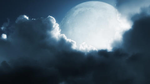 Fantastic moon Stock Video Footage
