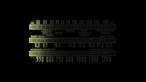 Retro radio tune 2 Stock Video Footage