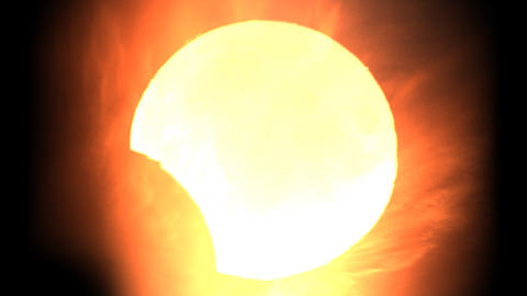 Solar eclipse 5 Stock Video Footage
