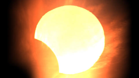 Solar eclipse 5 Stock Video Footage