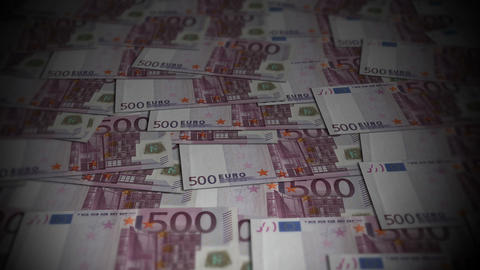 500 Euros travelling 01 Stock Video Footage