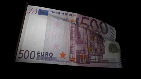 500 Euros bill flag 01 Animation