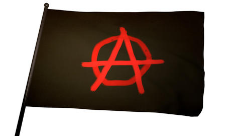 Anarchist Flag 01 Stock Video Footage