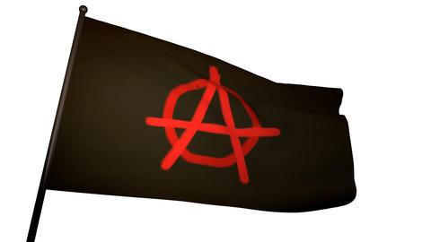 Anarchist Flag 01 Stock Video Footage