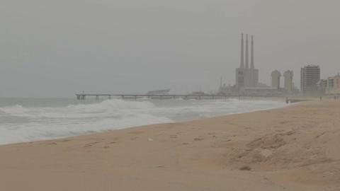 0021 INDUSTRIAL SEA BCN Stock Video Footage
