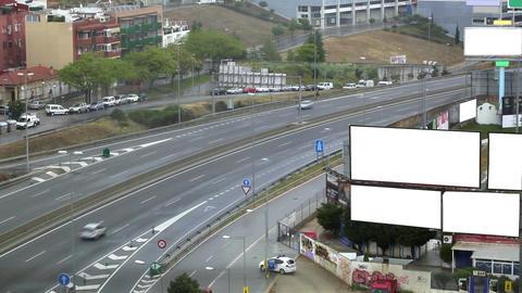 0035 TRSPRT CITY COPYSPACE BCN Stock Video Footage