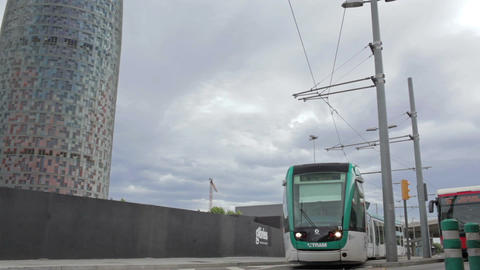 0055 TRSPRT TRAM EDIT BCN Stock Video Footage