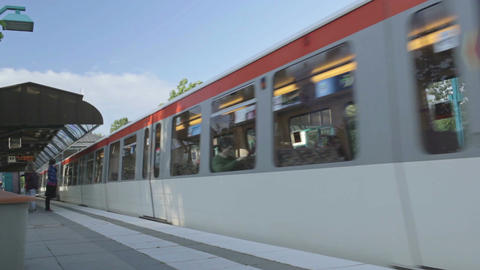 00198 EDIT Train HAM Stock Video Footage